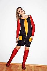 """Šaty - recy-rifľové šaty """"retro"""" - 13036592_"""