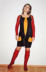 """Šaty - recy-rifľové šaty """"retro"""" - 13036594_"""