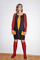 """Šaty - recy-rifľové šaty """"retro"""" - 13036596_"""
