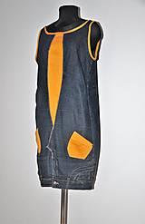 """Šaty - recy-rifľové šaty """"retro"""" - 13036603_"""