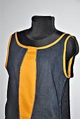 """Šaty - recy-rifľové šaty """"retro"""" - 13036605_"""