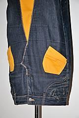 """Šaty - recy-rifľové šaty """"retro"""" - 13036607_"""