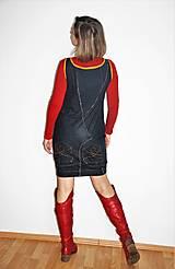"""Šaty - recy-rifľové šaty """"retro"""" - 13036738_"""