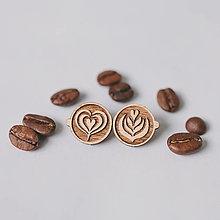 Náušnice - latte art ~ napichovačky (I) - 13035351_