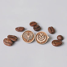 Náušnice - latte art ~ napichovačky (II) - 13035354_