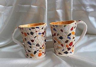 """Nádoby - Keramické šálky """"Mozaika"""" - 13034728_"""