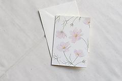 Papiernictvo - Akvarelová pohľadnica   botanická ilustrácia Krasuľky - 13038151_
