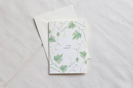 Narodeninová pohľadnica | ilustrácia Vinnej révi