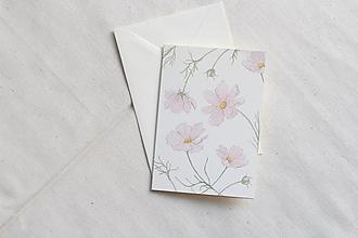 Papiernictvo - Akvarelová pohľadnica | botanická ilustrácia Krasuľky - 13038151_