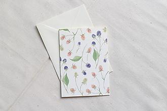 Papiernictvo - Akvarelová pohľadnica | ilustrácia Černice - 13038269_