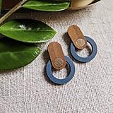 - Náušničky - Bauhaus 2 (Modrá) - 13037611_