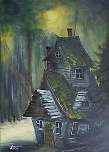 Obrazy - Tajomný dom - 13035412_