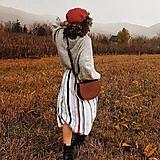 Kabelky - Midi kožená kabelka - přírodní - 13034539_