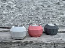 Svietidlá a sviečky - GeoFlamE Trio - malina - 13034533_