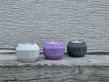 Svietidlá a sviečky - GeoFlamE Trio-levanduľa - 13034551_