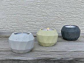 Svietidlá a sviečky - GeoFlame Trio-citrón - 13036356_