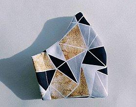 Rúška - Antibakteriálne 2vrstvové rúško Geometry - 13034810_