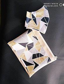 Rúška - Rúško a kozmetická taštička Geometry - 13034868_