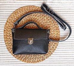 Kabelky - Leather Mini bag no.2 black color - 13035210_