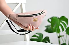 Kabelky - Ľadvinka CoCo (pink velvet) - 13040002_