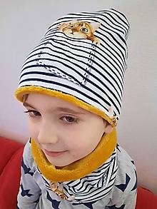 Detské čiapky - Detská čiapka  a nákrčník - 13040920_