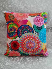 Úžitkový textil - Vankúš Mandala - 13043120_