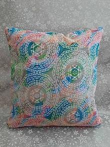Úžitkový textil - Vankúš Mandala - 13043191_