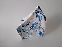 Rúška - VÝPREDAJ dámske dizajnové rúško prémiová bavlna antibakteriálne s časticami striebra dvojvrstvové tvarované - 13038959_