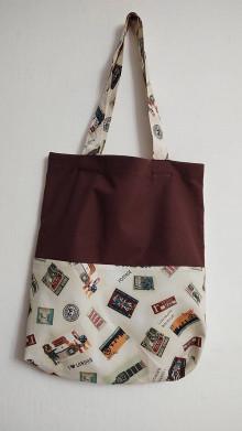 Nákupné tašky - Taška - poštové známky - 13041753_