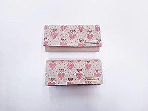 Peňaženky - Peňaženka staroružové ružičky na olivovo-zelenej - 13041910_