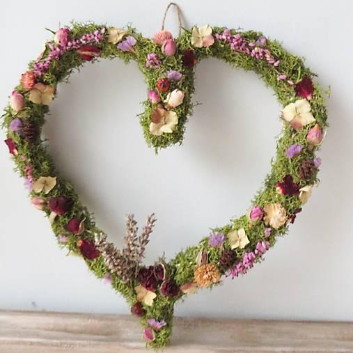 """Dekorácie - Srdce zo sušených kvetov """"Eileen"""" - 13043127_"""