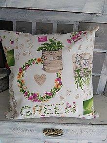Úžitkový textil - Vankúš green - 13042819_