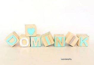 Hračky - Kocky drevené  Dominik - 13039071_