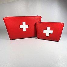 Taštičky - Taštička lekárnička (Sada červená malá a veľká) - 13040989_