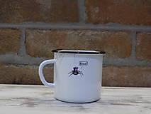 Nádoby - Kolekcia Pavúčik - Smaltovaný hrnček - 13042886_