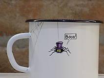 Nádoby - Kolekcia Pavúčik - Smaltovaný hrnček - 13042888_