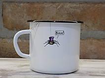 Nádoby - Kolekcia Pavúčik - Smaltovaný hrnček - 13042889_