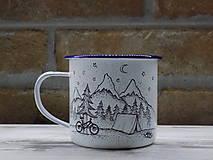 Nádoby - Smaltovaný hrnček - Biker - 13042897_