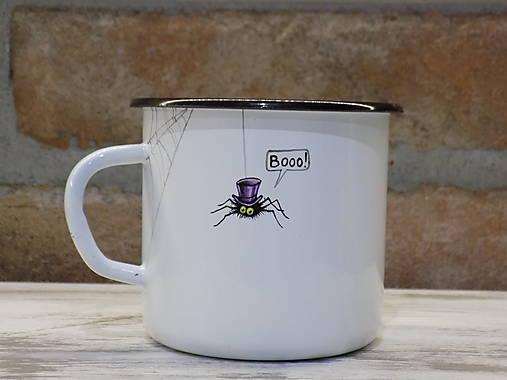 Kolekcia Pavúčik - Smaltovaný hrnček