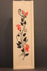 Krabičky - Svadobný darček - borovicová krabička na víno RUŽE - 13040866_