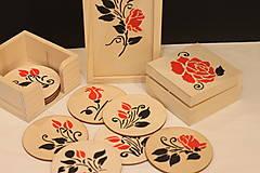 Krabičky - Ručne maľovaná krabička RUŽA - 13041247_
