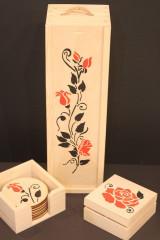 Krabičky - Svadobný darčekový trojset trojRUŽA - 13041479_