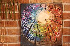 Obrazy - Obraz Farebné nebo  Akryl 40 x 40 cm - 13041678_