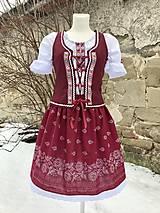 Šaty - Ľudový dámsky kroj bordový - 13043087_