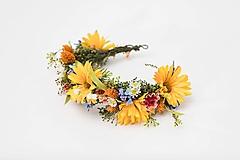 """Ozdoby do vlasov - Kvetinový polvenček """"jarné pošteklenie"""" - 13041346_"""
