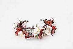 """Ozdoby do vlasov - Kvetinový polvenček """"stmievanie v bielych perinách""""  - 13041549_"""