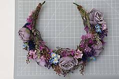 """Ozdoby do vlasov - Kvetinový polvenček """"niečo pošepkám"""" - 13041726_"""