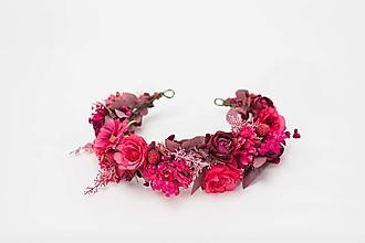 """Ozdoby do vlasov - Kvetinový polvenček """"čaj pri súmraku"""" - 13041389_"""