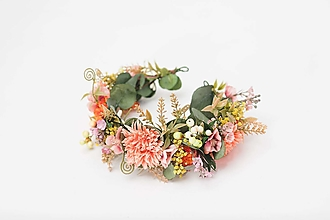 """Ozdoby do vlasov - Kvetinový polvenček """"teplo na duši"""" - 13041639_"""