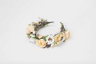 """Ozdoby do vlasov - Kvetinový polvenček """"keď prebúdza sa deň"""" - 13041702_"""